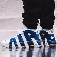 Bunchsun Nike Air More Uptempo New Fashion Letter Hook Sports Leisure Shoes