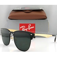 Ray-Ban Blaze Clubmaster RB3576N Sunglasses Classic Green / Gold 043/71 New
