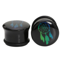 Acrylic Dreamcatcher Mood Black Saddle Plugs