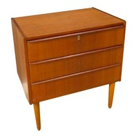 Pre-owned 3-Drawer Petite Teak Chest