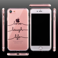 Unique Fashion Portuguese Words Case For iPhone 7 Transparent TPU Soft Cover For iPhone7 Plus 6 6S 5S Clear Silicone Rubber Capa -iHomegifts