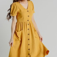 Mae Button Dress