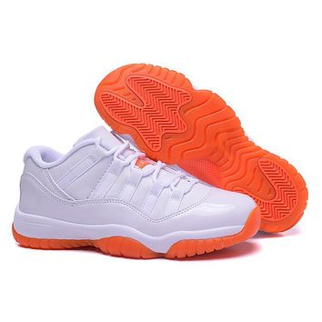 Air Jordan 11 Retro Low White/orange-1