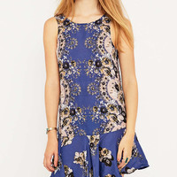 Free People Dobybot Floral Swing Dress - Urban Outfitters