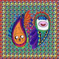 Paisley Adventure Time BLOTTER ART perforated acid by ZaneKesey