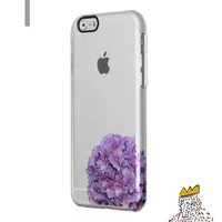 iPhone 6S Hydrangea Clear Rubber Case iPhone 6S Plus Clear Case iPhone 6S Clear Rubber Case Samsung Galaxy S6 Clear Case S7 Edge Case