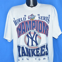 90s New York Yankees 1998 World Series Champs t-shirt Extra-Large