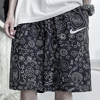 NIKE Summer New Fashion Letter Star Print Shorts