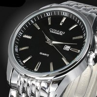 Mens Watches Top Brand Luxury Men Full Stainless Steel Analog Date Quartz Casual Watch Wristwatches Relogio Masculino