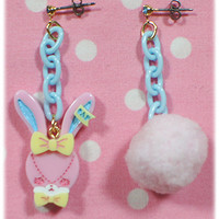 Fancy Lyrical Bunny Earring - Pink [132KA9-13656-pk] - $29.00 : Angelic Pretty USA