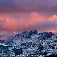 """""""Alayos Mountains"""". Red sunset. Sierra Nevada by Guido Montañés"""
