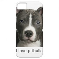 I love pitbulls iPhone 5 covers from Zazzle.com