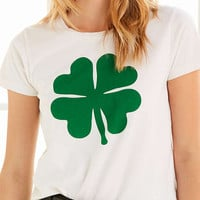Truly Madly Deeply Shamrock Tee - Urban Outfitters
