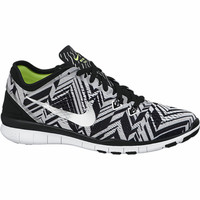 Nike Women's Nike Free 5.0 TR Fit 5 Print - Black/White-Training Shoes-Women's Shoes-Shoes - Sport Chalet