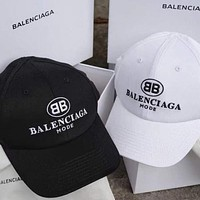 Balenciaga Fashion couple style embroidery letter cap hat