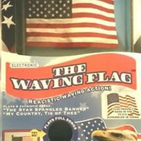 The Waving Flag Electronic American Flag As Seen On TV  Plays 2 Songs New