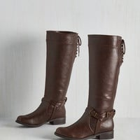Steampunk Steadfast Style Boot in Brown