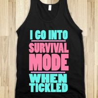 Tickle Survival Mode-Unisex Black Tank