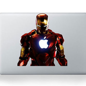Iron Man --- Mac Decal Macbook Stickers Macbook Decals Apple Decal for Macbook Pro / Macbook Air / iPad / iPad2 / The New ipad / iPhone 4