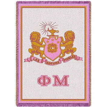 Phi Mu Pink Throw Blanket