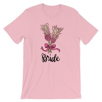 Bride Shirt Tropical Pink Pineapples Wedding - Shipping Included