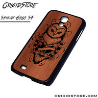 Owl Wood Case For Samsung Galaxy S4 Case