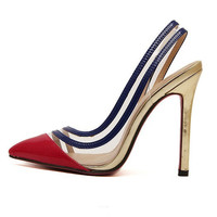 Pointed Toe High Heel Cats Shoes = 4814765380
