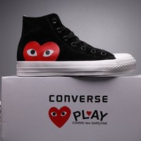qiyif Converse Comme Des Garcons Suede Chuck Taylor All Star  Black/White  High Cut