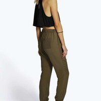 Freja Luxe Fold Front Woven Joggers