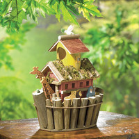 Biblical Torah Story Noah's Ark Collectors Village Birdhouse