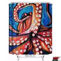 Octopus Shower Curtain in Various Design