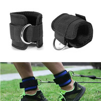 Resistance Band D-ring Ankle Straps set  with Cuffs Exercises Home Gym Fitness Equipment