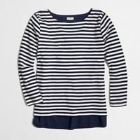 FACTORY WOVEN-BACK TOP IN STRIPE