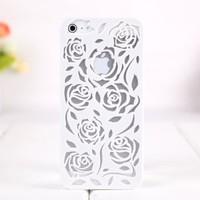 Hollow Out Relief Hard Cover Iphone 4/4s Case (White)