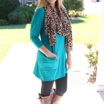 Easy Going Tunic - Teal