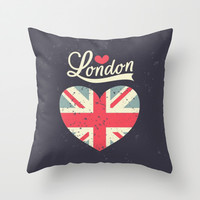 London Love Throw Pillow by Pink Berry Pattern