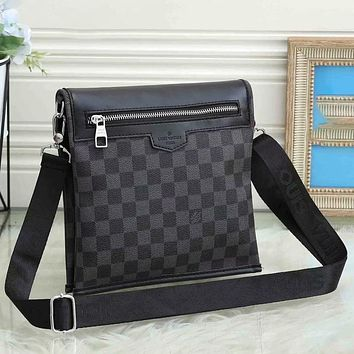 Louis Vuitton LV Hot Sale Personalized Casual Business Briefcase Fashion Men's and Women's Shoulder Messenger Bags White Collar Students