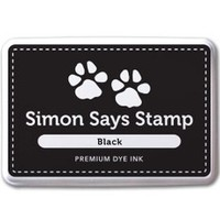 Simon Says Stamp Premium Dye Ink Pad BLACK Ink008