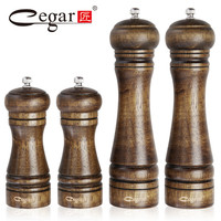 1pc or 4pcs/set Classical Oak Wood Pepper Spice Mill Grinder Set Handheld Seasoning Mills Grinder Cooking BBQ Tools Set
