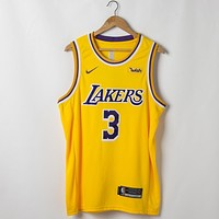 Men's Los Angeles Lakers Anthony Davis Nike Gold 2019/20 Swingman Jersey - Icon Edition