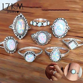 Opal Knuckle Rings 8 PCS/Set Offer