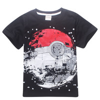 bibihou Children T Shirts boys POKEMON GO T Shirts summer clothes  Cartoon Earth Clothing Kid T-shirt for Baby Kids Clothes next