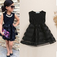 Girls Tulle Tutu Party Dress