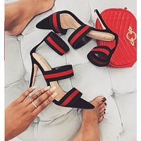 New color matching elastic strap super high heel sexy nightclub sandals
