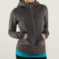 Lululemon Solid Color Casual Sports Running Cardigan Jacket Coat-1