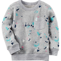 French Terry Paint Splatter Pullover