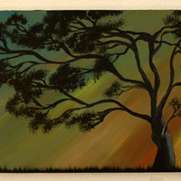 original abstract sky decoration/abstract tree wall/time landscape abstract nature tree/ original painting