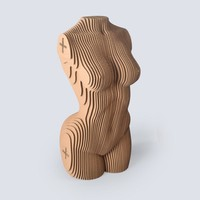 Nude Women Body Image Fun 3D DIY Corrugated Paper Model Kits