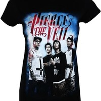 Pierce The Veil Band Ladies Black T-Shirt - Buy Online at Grindstore.com