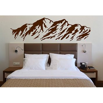 Vinyl Decal Nature Wall Sticker Majestic Mountains Snowy Peaks Ski Slopes Unique Gift (n348)